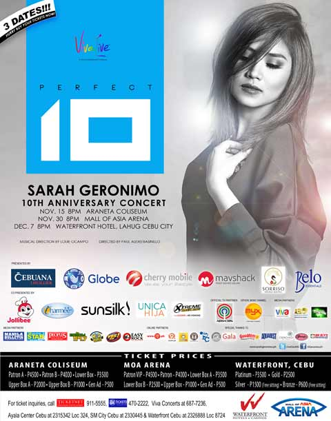 Sarah Geronimo Perfect 10 Concert