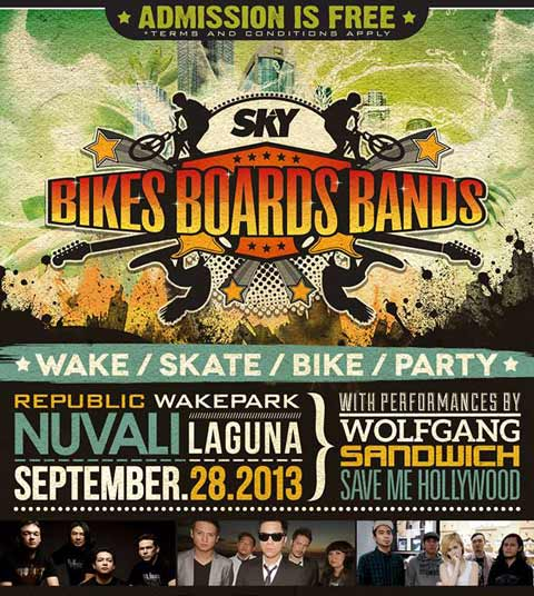 Bikes Boards Bands at Republic Wakepark Nuvali