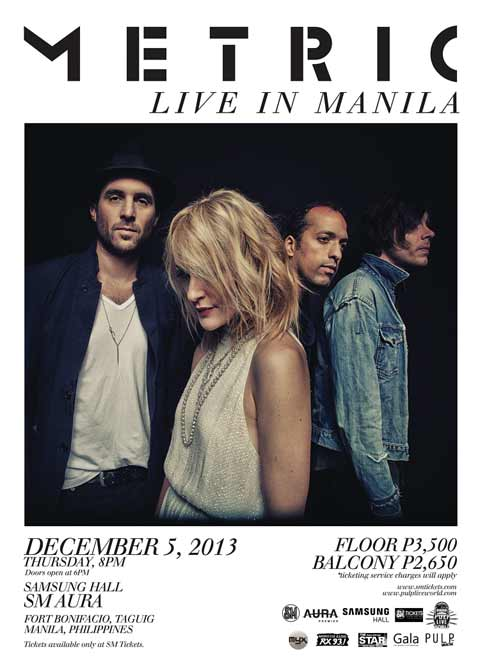 Metric Live in Manila