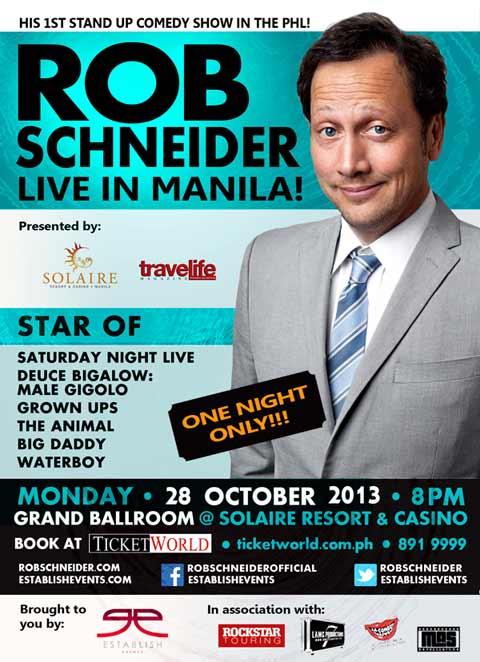 Rob Schneider Live in Manila