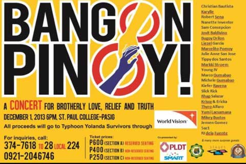 Bangon Pinoy: A Concert for Brotherly Love, Relief and Truth