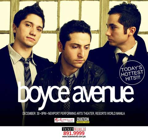 Boyce Avenue live in Manila 2013