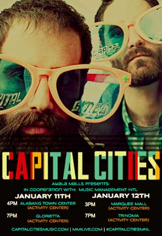 Capital Cities Live at Ayala Malls