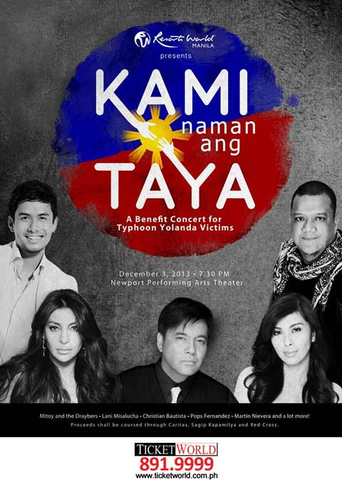 KAMI naman ang TAYA Benefit Concert at Resorts World Manila