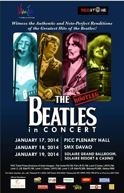 The Bootleg Beatles Live in Manila 2014