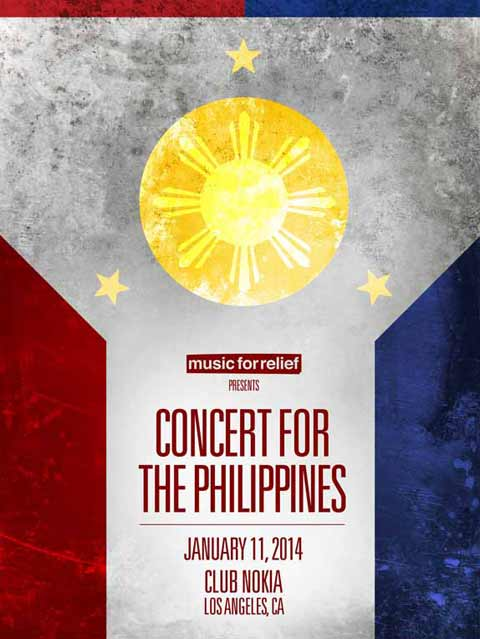 Concert for the Philippines featuring Linkin Park, The Offspring and Bad Religion