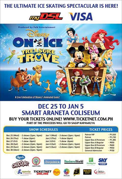 Win Tickets to watch Disney on Ice Treasure Trove