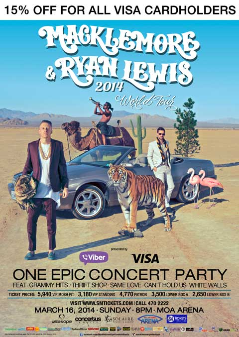 Macklemore and Ryan Lewis Live in Manila