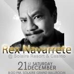 Rex Navarette at Solaire Resort on December 21, 2013
