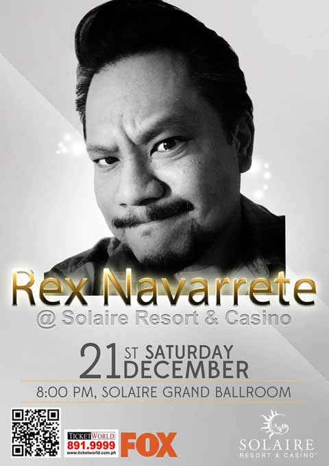 Rex Navarette at Solaire Resort on December 21, 2013
