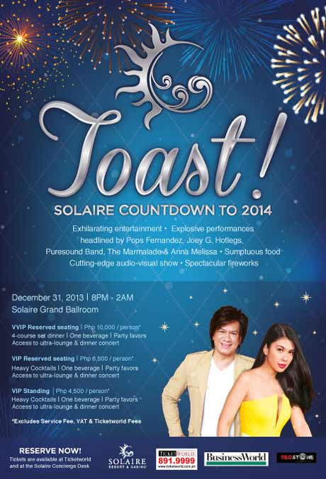 Toast! Solaire Countdown to 2014