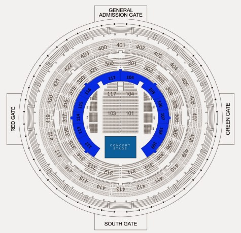 Lionel Richie Live in Manila Seat Plan