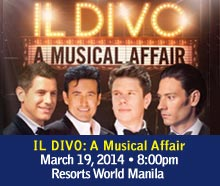 Il Divo Live in Manila Tickets