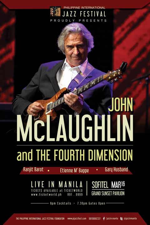 John McLaughlin and The 4th Dimension Live in Manila