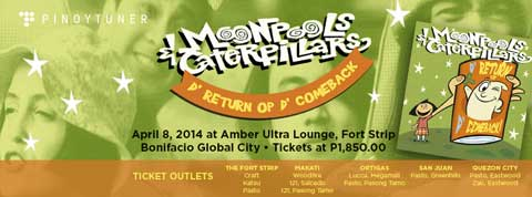 Moonpools & Caterpillars Live in Manila and Cebu 2014