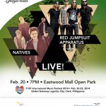 Red Jumpsuit Apparatus, Natives and The Asteroids Galaxy Tour Live at MegaWorld Lifestyle Malls
