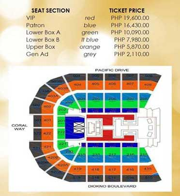 Taylor Swift Live at Mall of Asia Arena Seat Plan