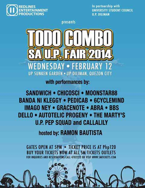 Todo Combo sa UP Fair 2014