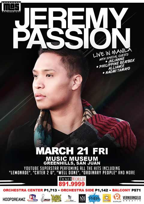 Jeremy Passion Live in Manila