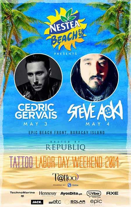 Steve Aoki and Cedric Gervais Live in Boracay