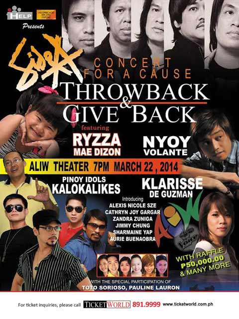 Throwback & Give Back Concert for a Cause