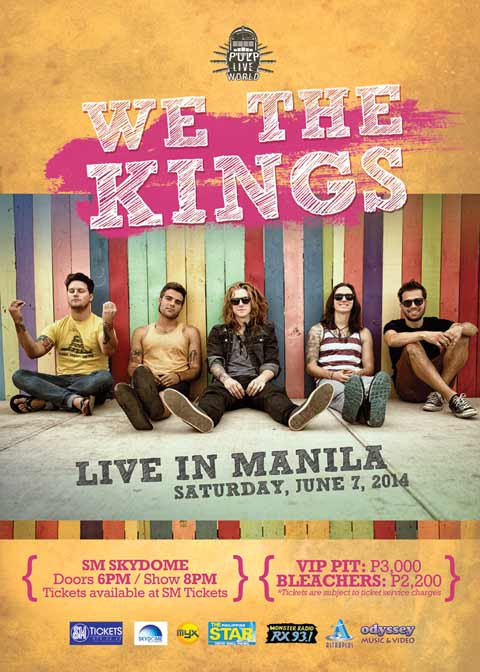 We The Kings Live in Manila 2014