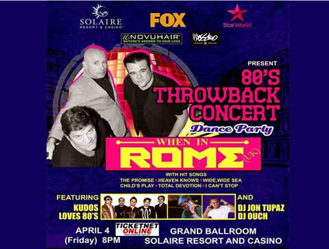 When in Rome Live in Manila