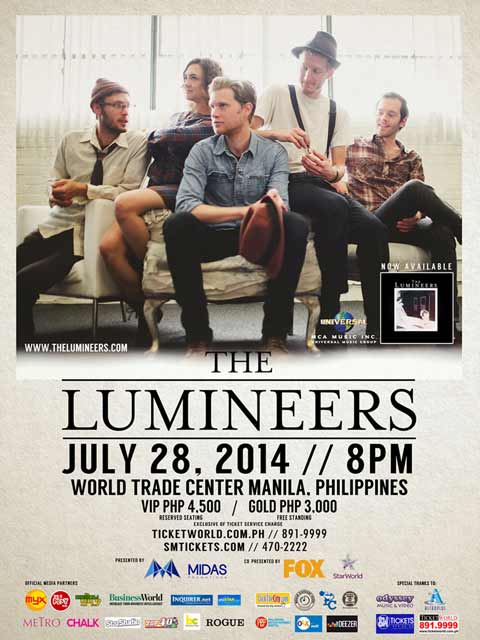 The Lumineers Live in Manila 2014 Cancelled