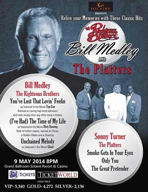 The Righteous Brothers' Bill Medley and The Platters Live in Manila