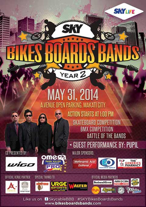 Bikes Boards Bands Year 2