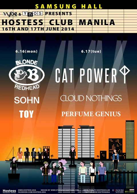 Blonde Redhead and Cat Power Live in Manila 2014 Cancelled