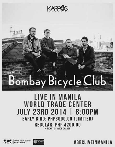 Bombay Bicycle Club Live in Manila on July 23, 2014