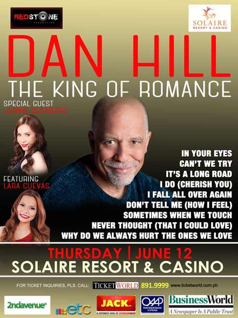 Dan Hill – The King of Romance Live at Solaire Resort