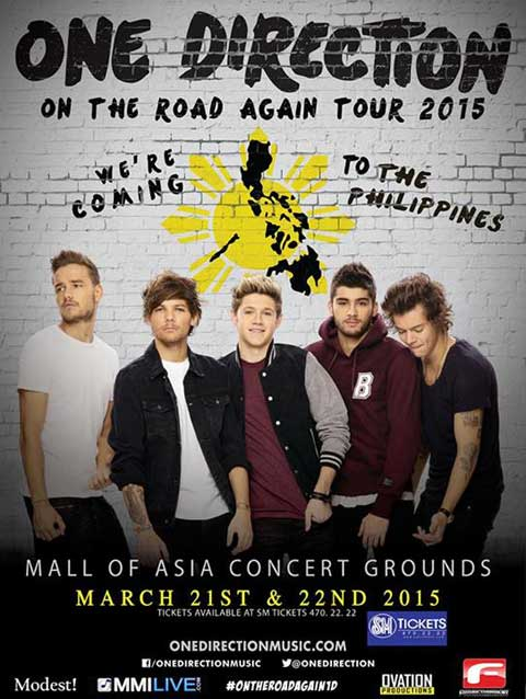 One Direction Live in Manila on March 21 and 22, 2015