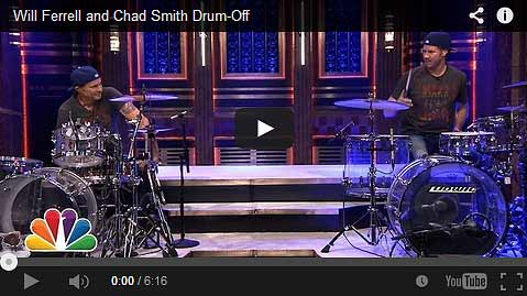Will Ferrell and Chad Smith Drum-Off Video