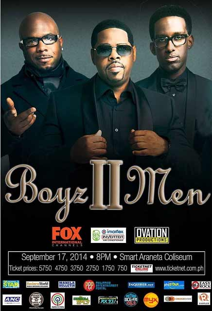 Boyz II Men Live in Manila 2014 Smart Araneta Coliseum