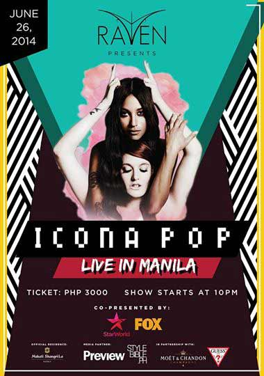 Icona Pop Live in Manila on June 26, 2014