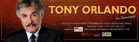 Tony Orlando in Concert at Resorts World Manila