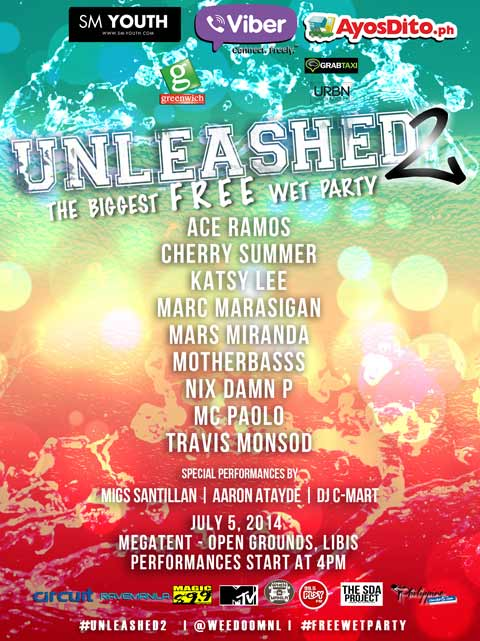 Unleashed 2 – Free Wet Party on July 5, 2014