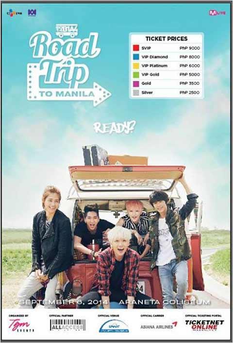 B1A4 Live in Manila 2014