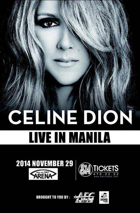 Celine Dion Live in Manila 2014 Postponed