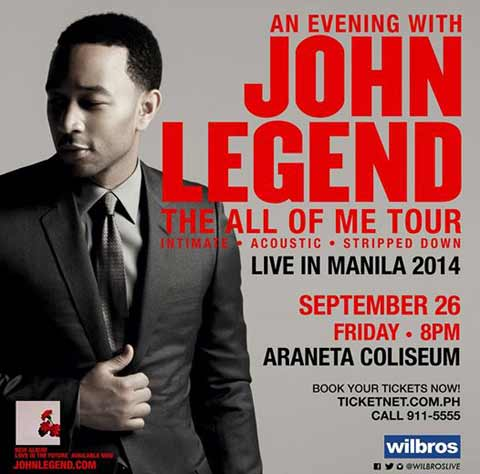 John Legend Live in Manila 2014