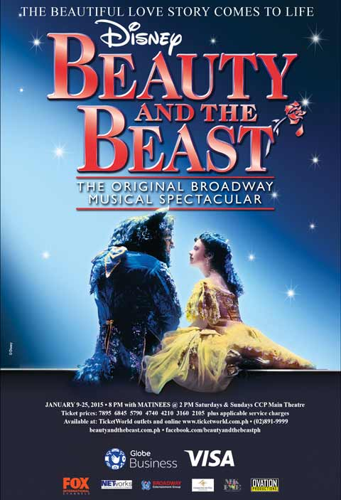 Disney Beauty and the Beast Musical Manila 2015