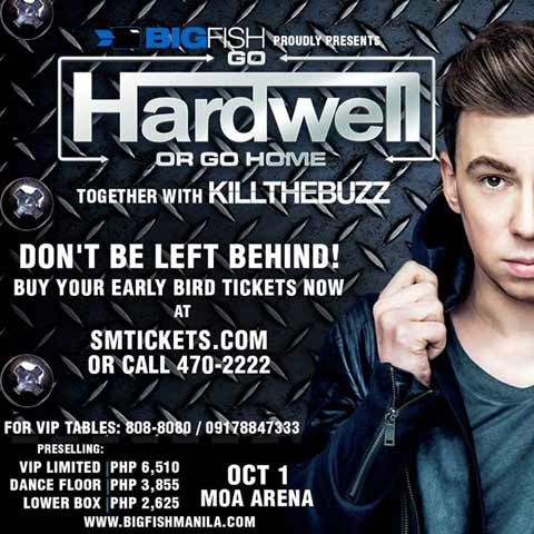 Go Hardwell or Go Home at MOA Arena