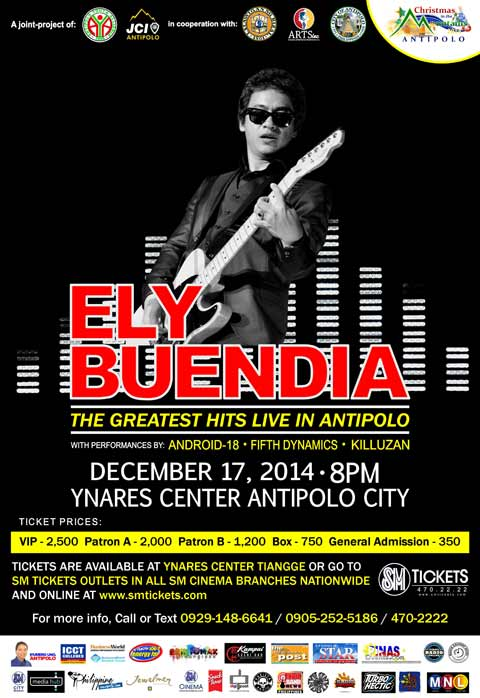 Ely Buendia: The Greatest Hits Live in Antipolo!