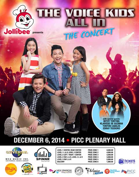 The Voice Kids All-In Concert PICC Plenary Hall