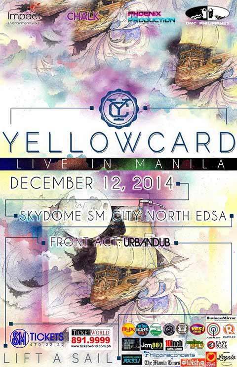 Yellowcard Live in Manila 2014
