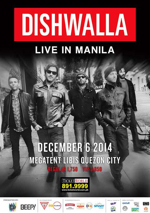 Dishwalla Live in Manila 2014