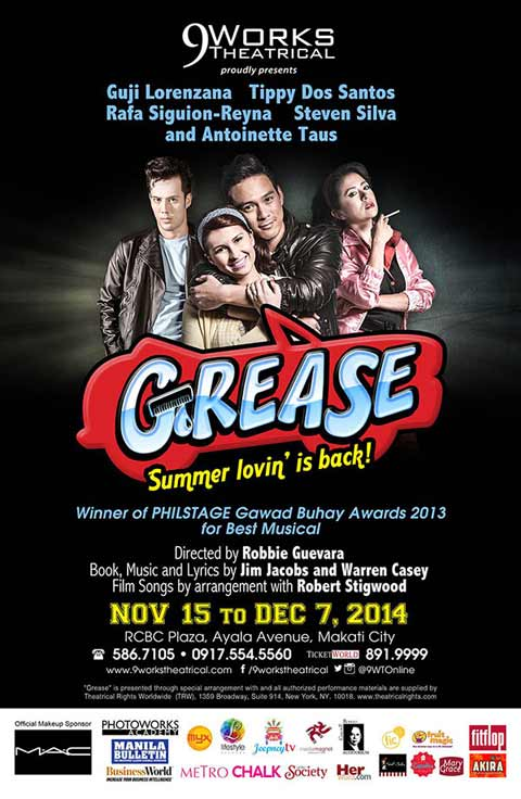 Grease The Musical 2014