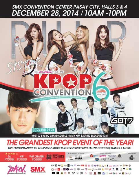 Sistar, GOT7 and Bernard Park at Kpop Convention 6